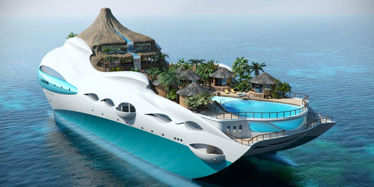 Yacht-Island Tropical Island Paradise