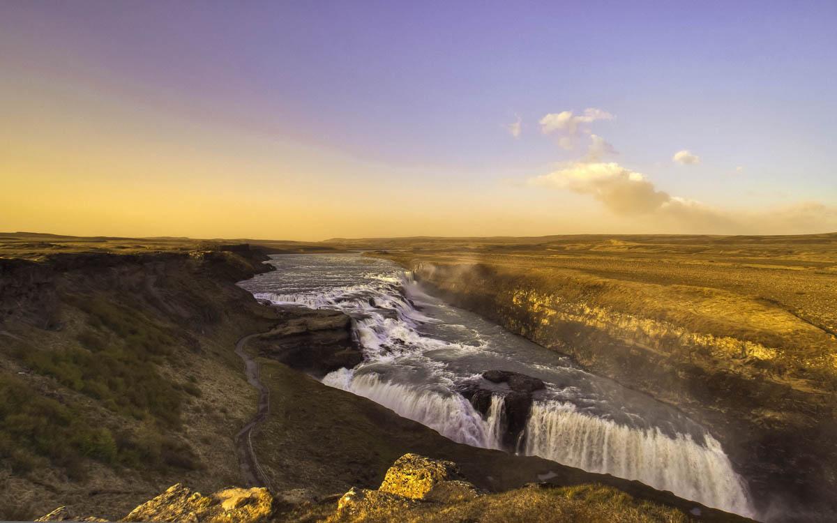 waterfalls gullfoss