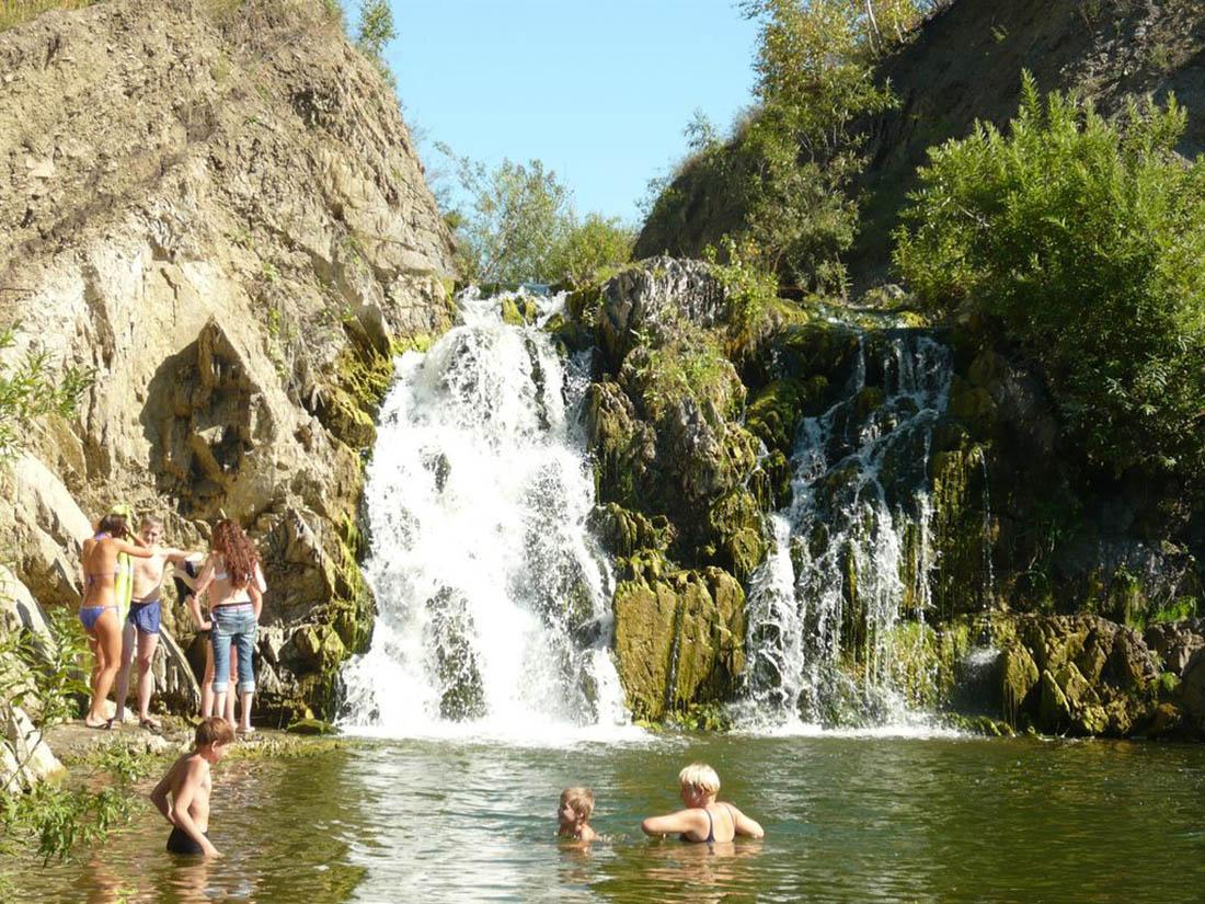 Беловский водопад, Новосибирская область, Россия