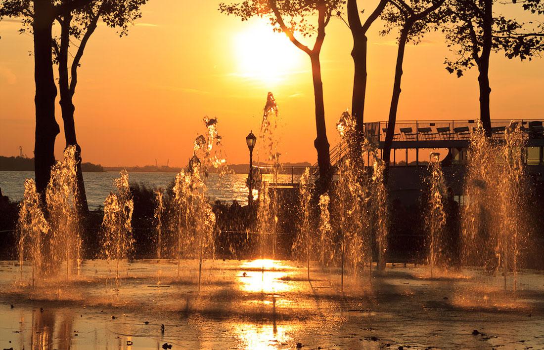 фонтаны в Бэттери Парке