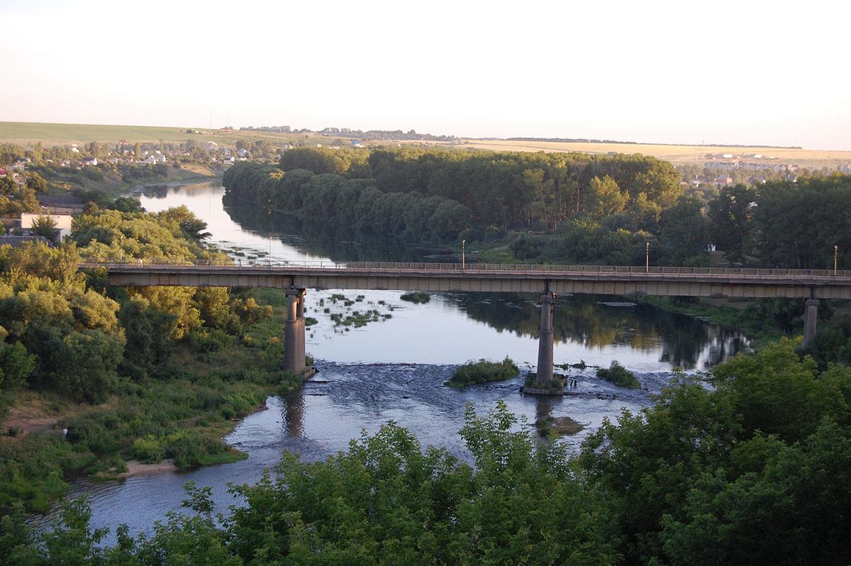 мост на реке Быстрая Сосна