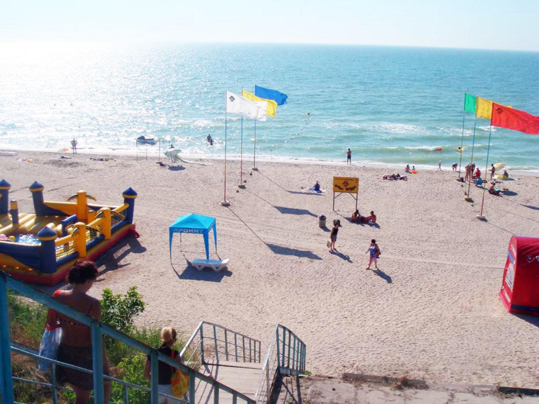 платный пляж в Кирилловке