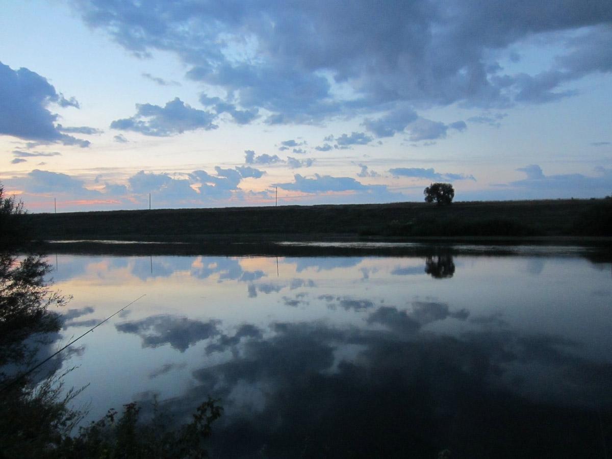 река Быстрая Сосна, рассвет