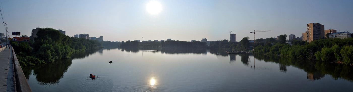 река Исеть, Екатеринбург (панорама)