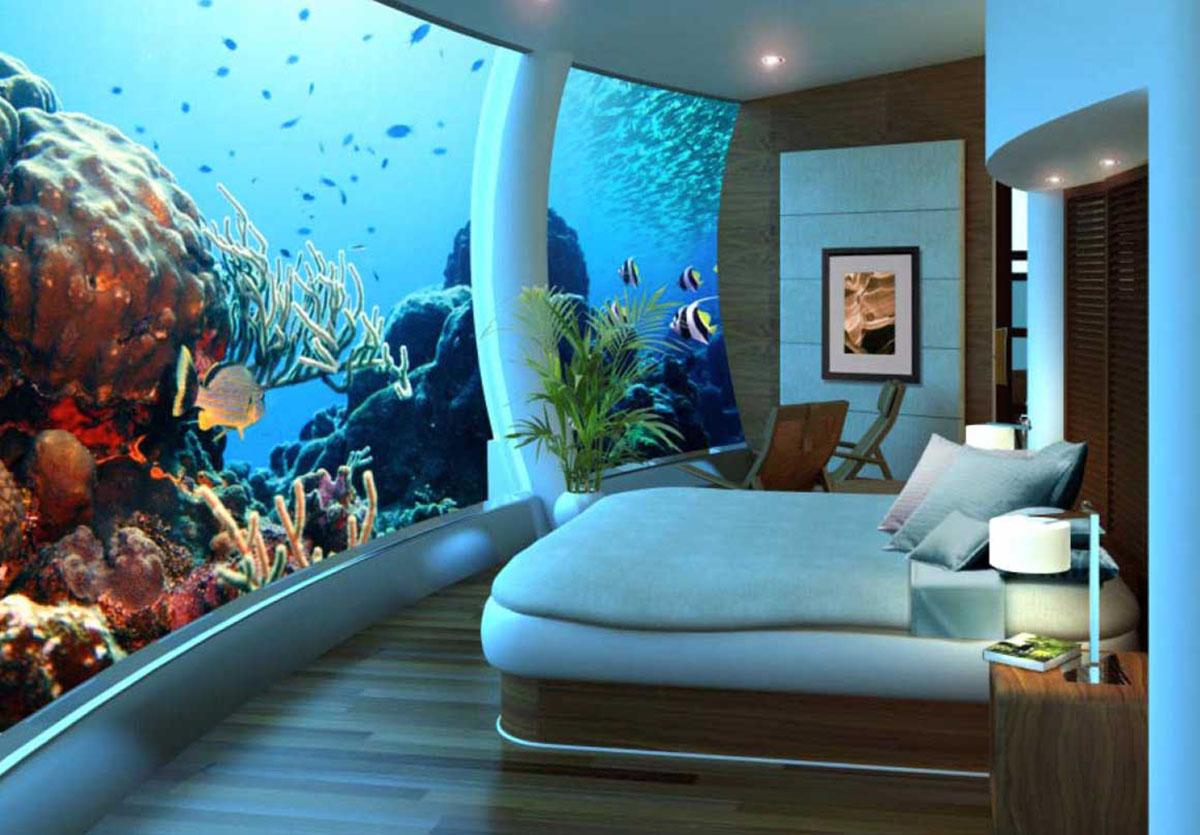 Подводный эко отель на фиджи poseidon resorts