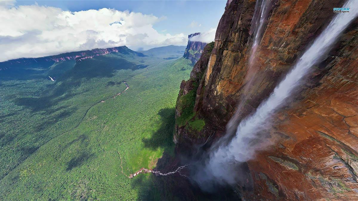 В южной америке водопад анхель в