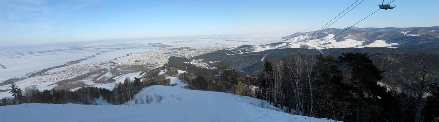 Белокуриха зимой, панорама