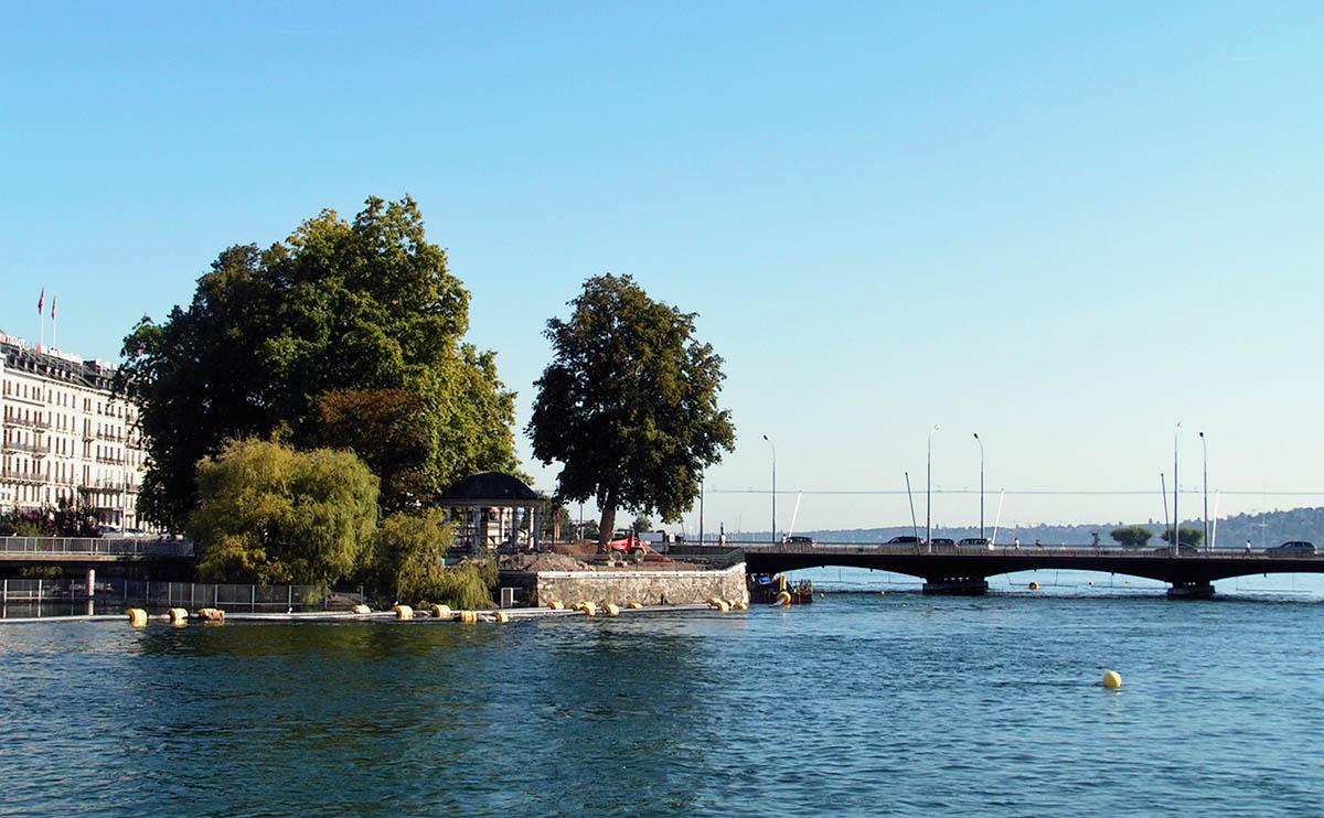 Ile Rousseau, Geneve