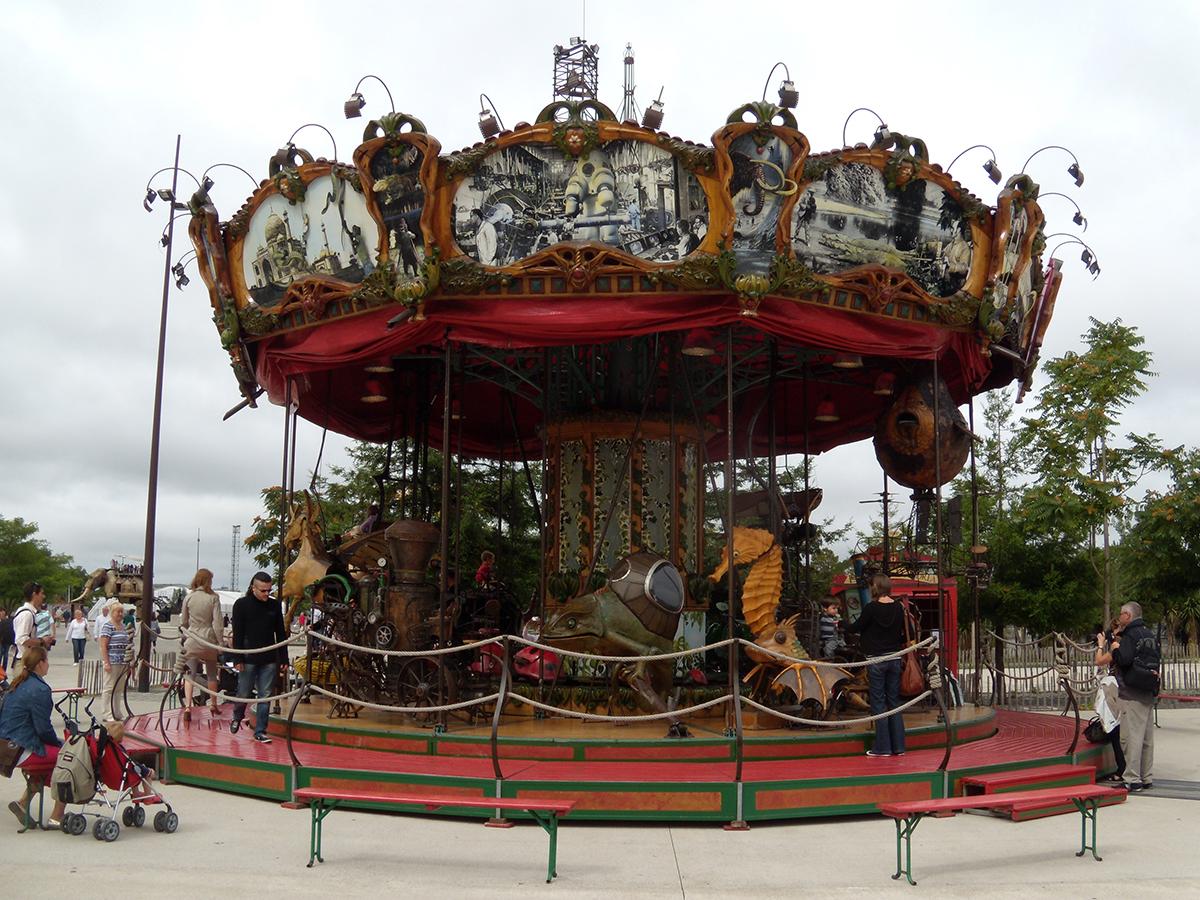 Les Machines de l Ile Le Grand, карусель Морские миры