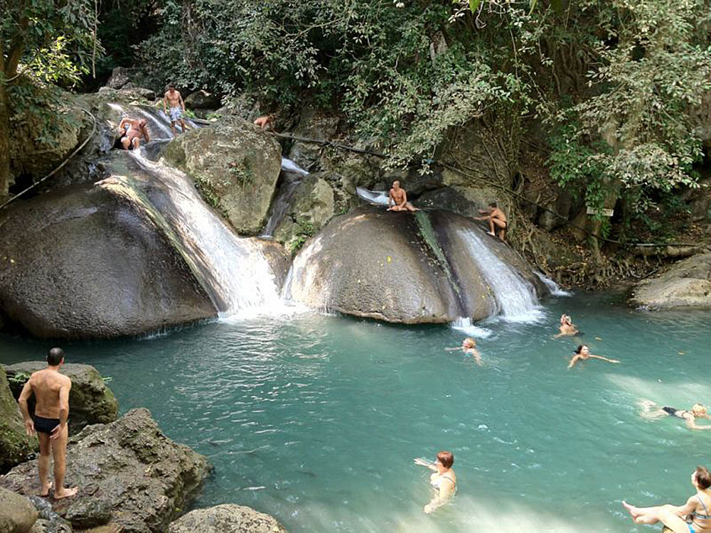 Oke Nang Phe Seah, Erawan falls