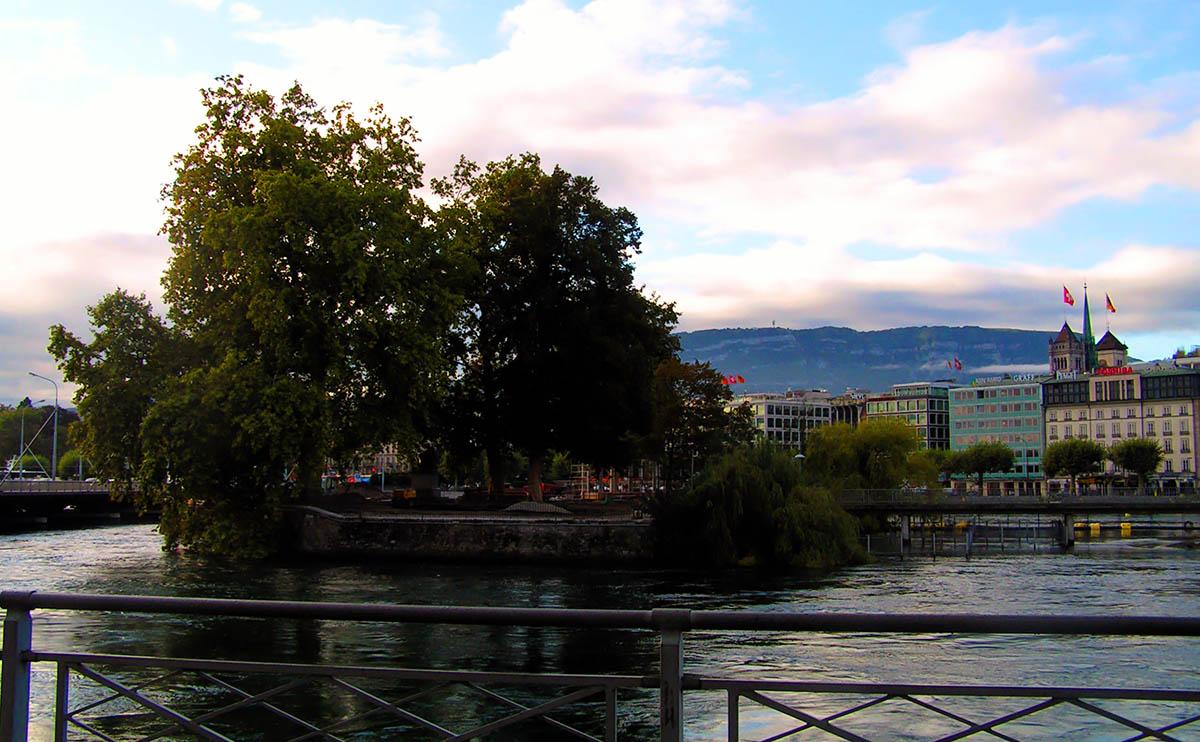остров Руссо, Женева, Швейцария