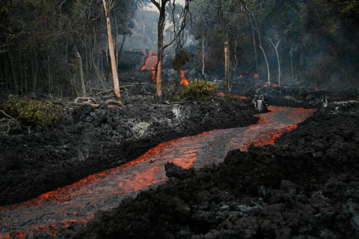 реки лавы вулкана Килауэа