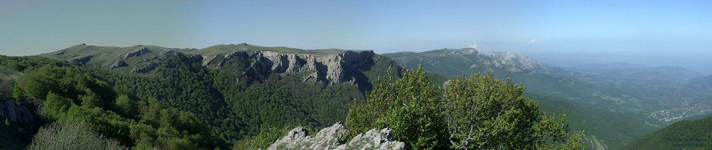 ущелье Хапхал, панорама