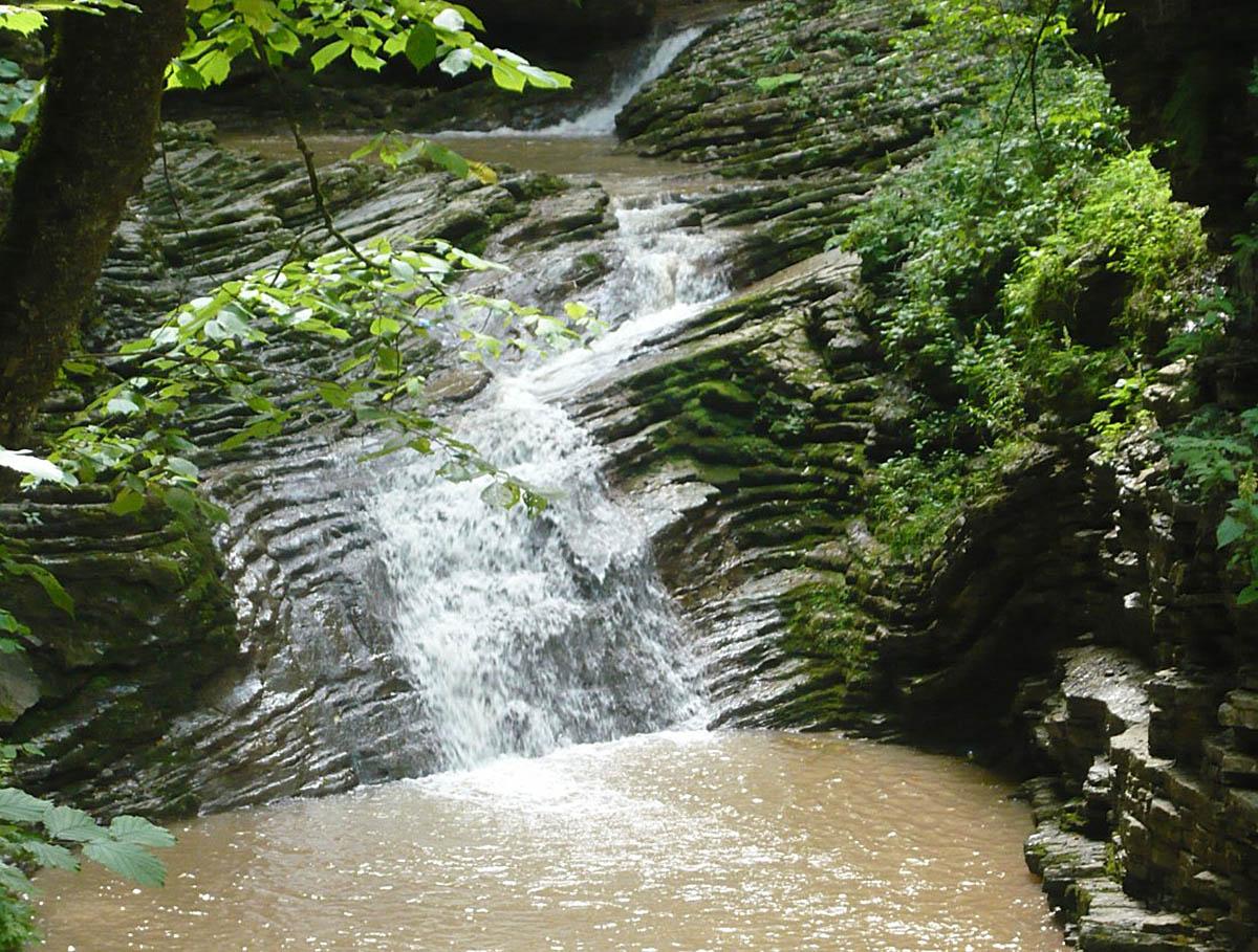 водопад Горизонт, река Руфабго, Адыгея