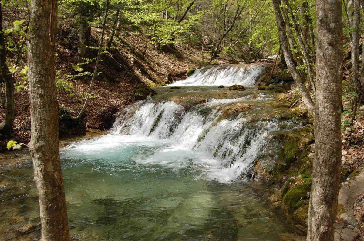 водопады на реке Улу-Узень