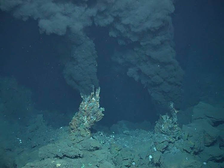 вулканические дымоходы на дне