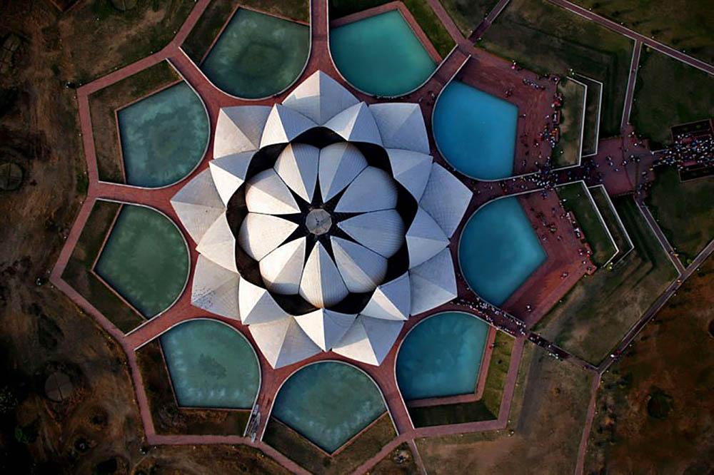 храм Лотоса, вид с высоты