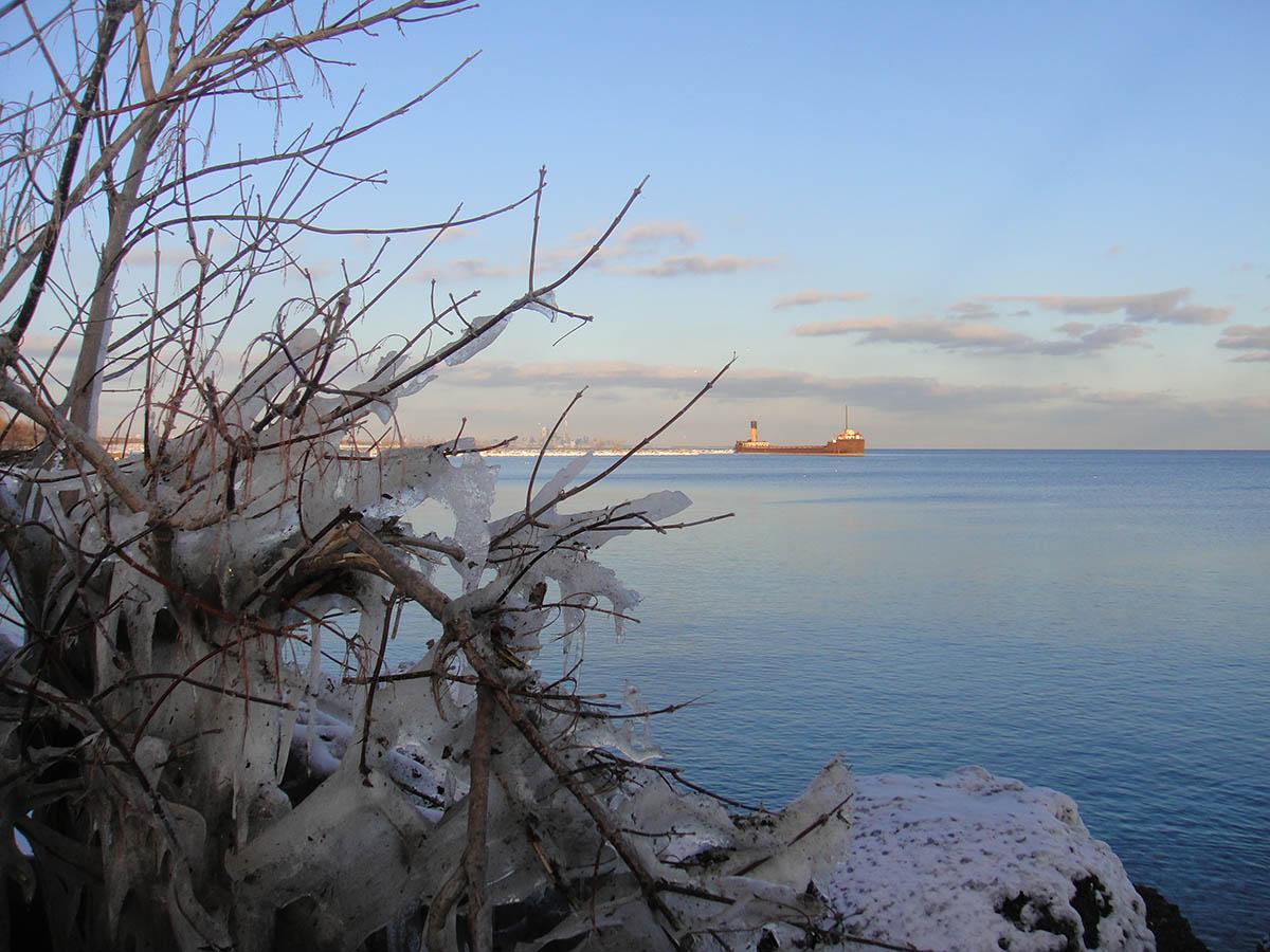 озеро Онтарио зимой