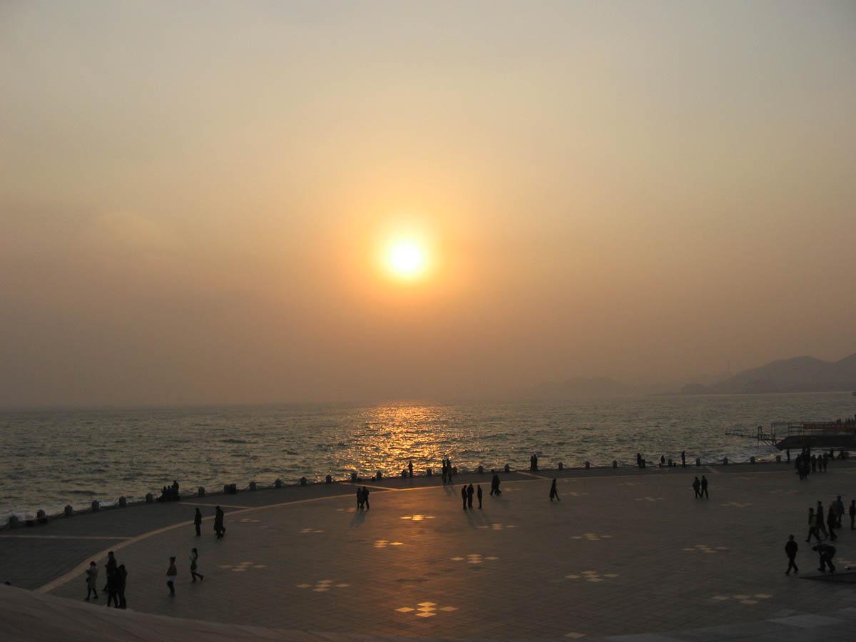 пляж в Даляне, Китай