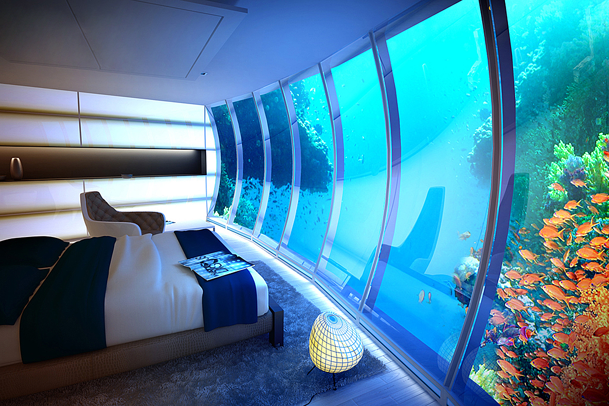 подводный номер в отеле Water Discus Hotel