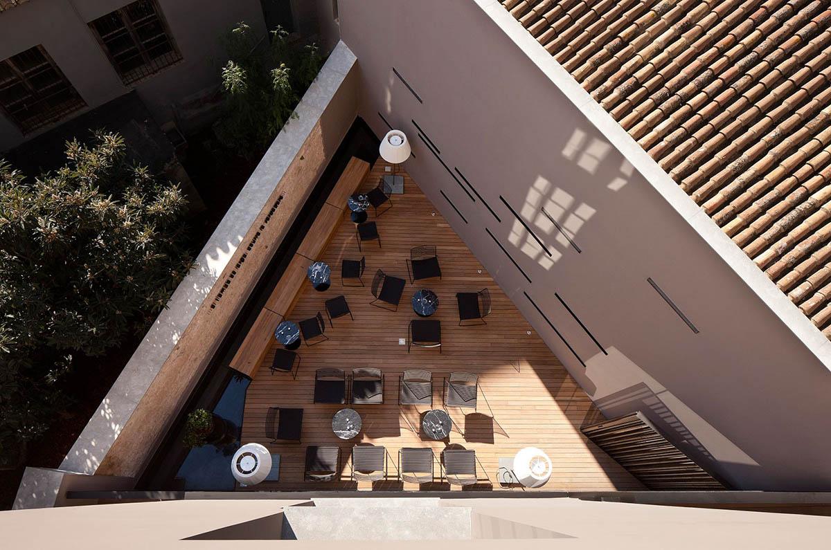 терраса на крыше Caro Hotel