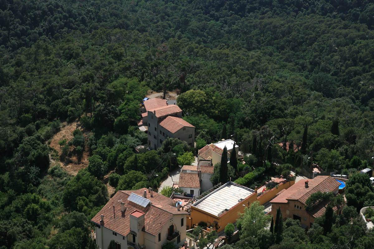 вид с горы Тибидабо в Барселоне