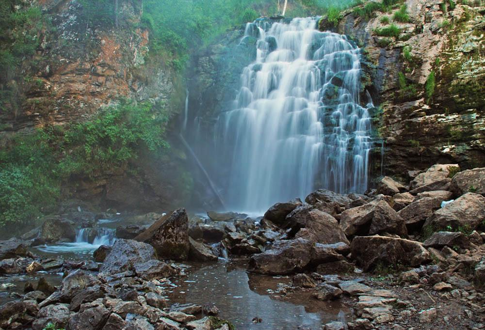 Пещерский водопад, Залесский район, Алтайский край