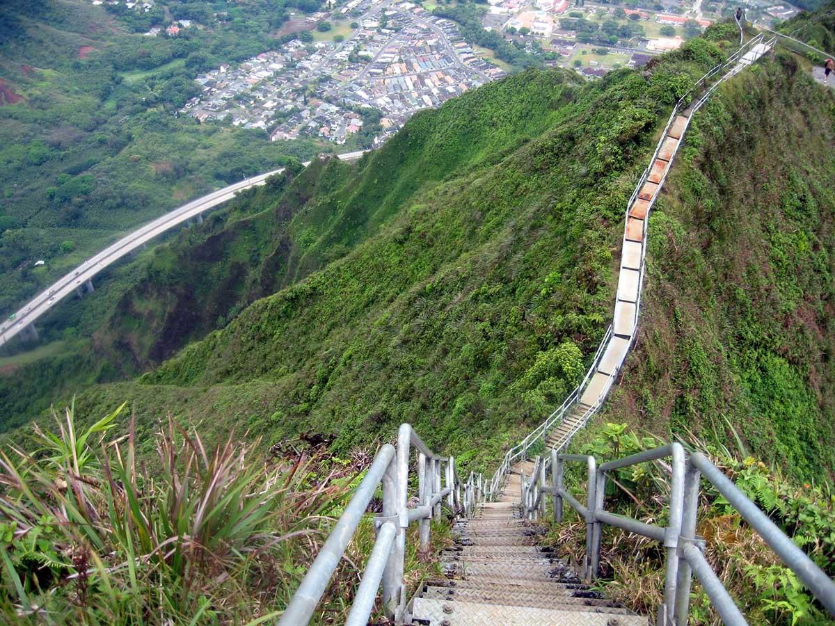 вид с лестницы Хайку