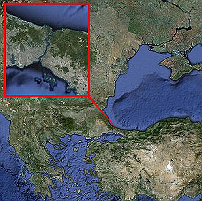 Босфорский пролив - начало подводной реки