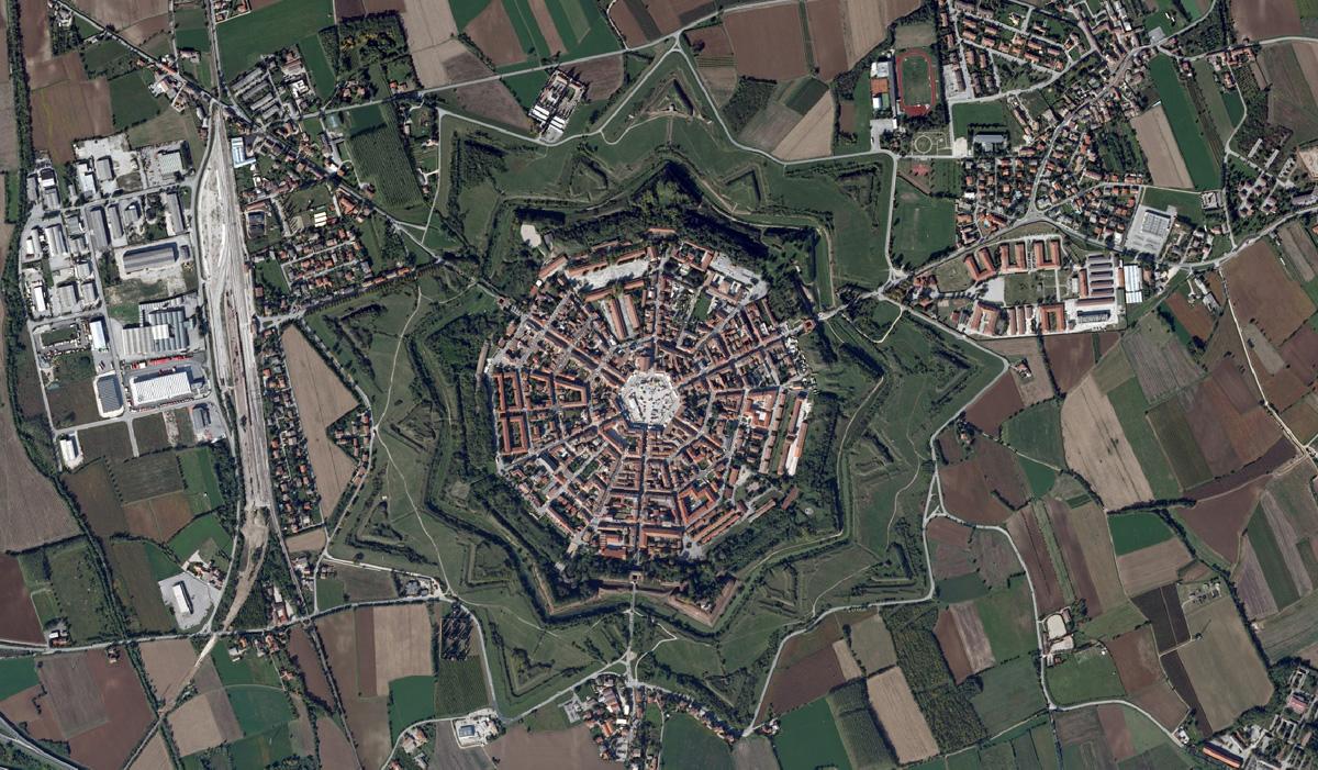 Пальманова, Италия, вид с высоты