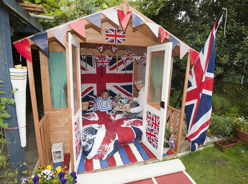 Small garden shed in London