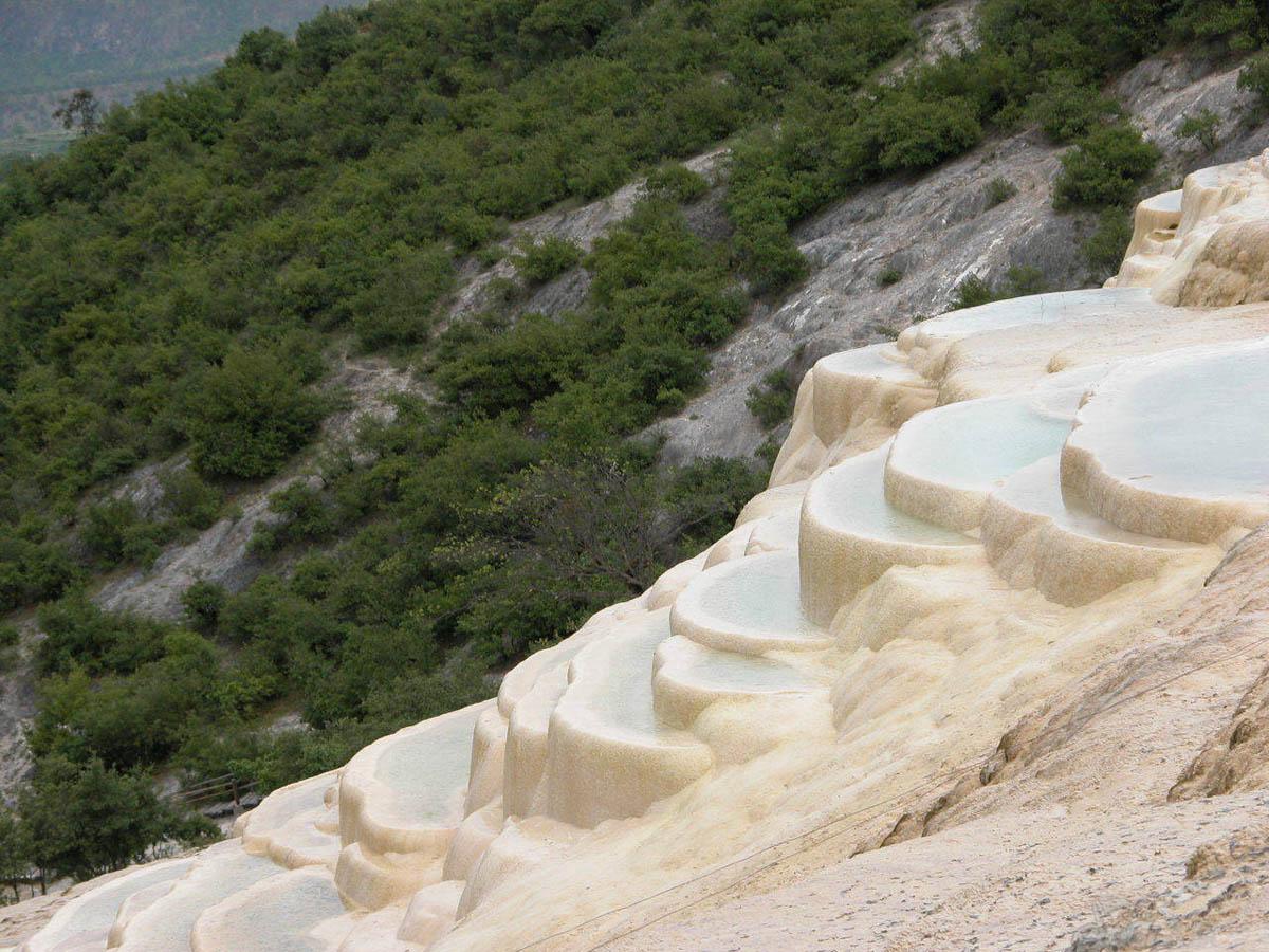 Белые водяные террасы, Китай