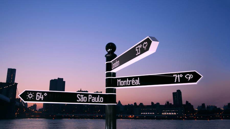 дорожный знак Points, Нью-Йорк, США