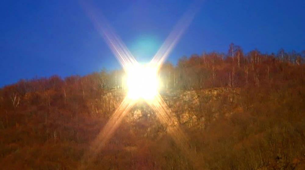 искусственное освещение в деревне Виганелла, Италия