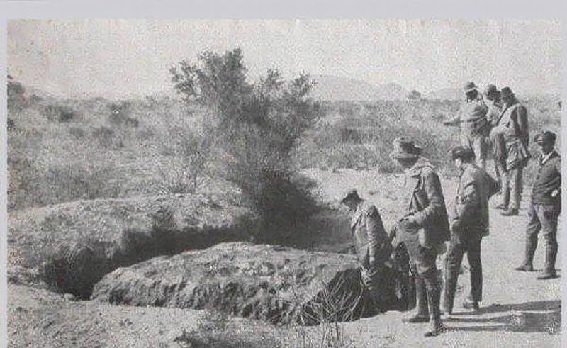 метеорит Гоба в 1929 году