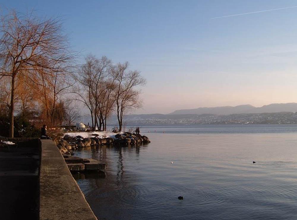 озеро Катцензее в Цюрихе