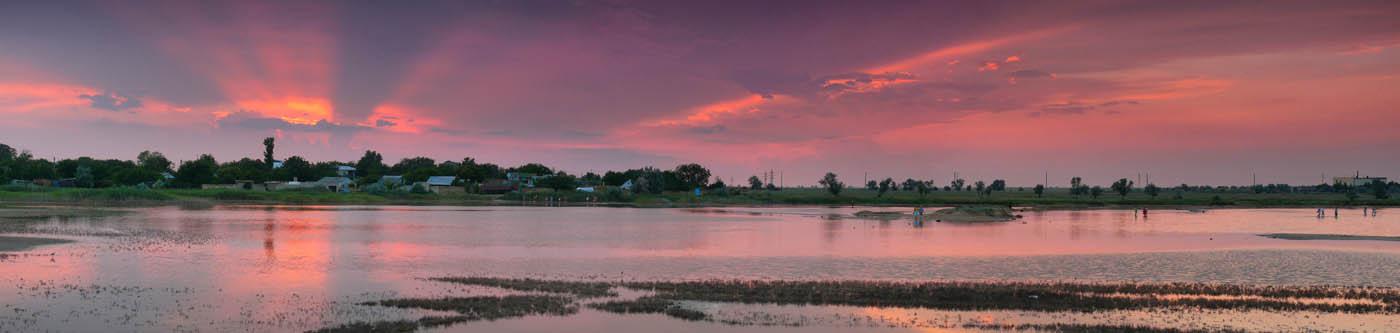 поселок Заозерное, панорама