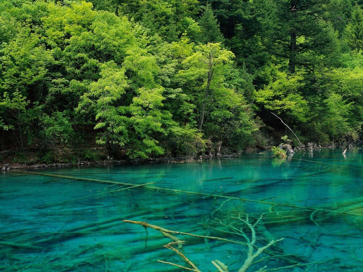 прозрачные озера Цзючжайгоу, Тибет, Китай