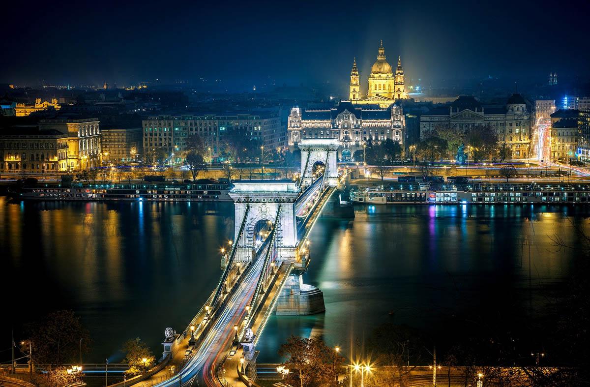 цепной мост Сечени, Будапешт, Венгрия