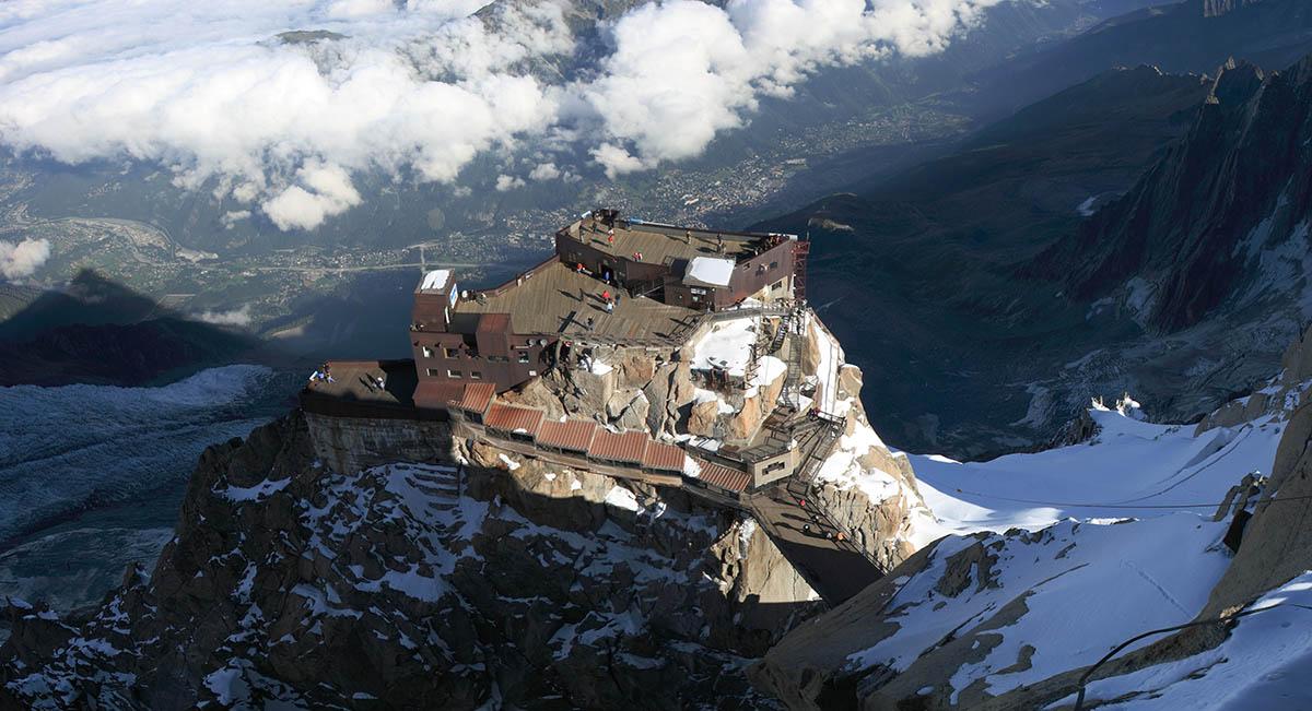 Aiguille du Midi, вид с высоты