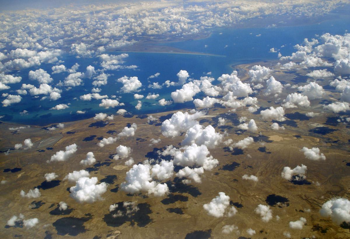 Аральское море с высоты