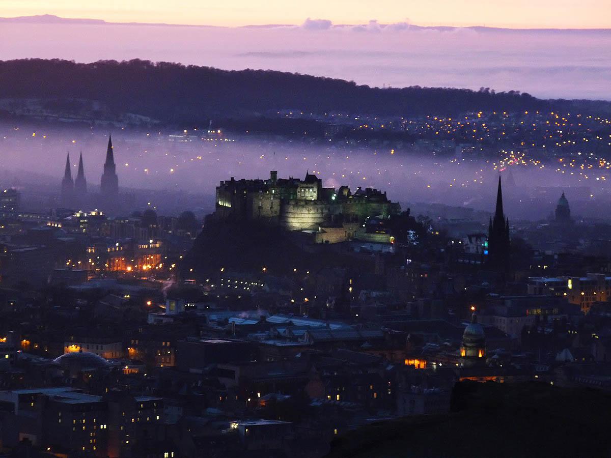 Эдинбургский замок, вид с высоты