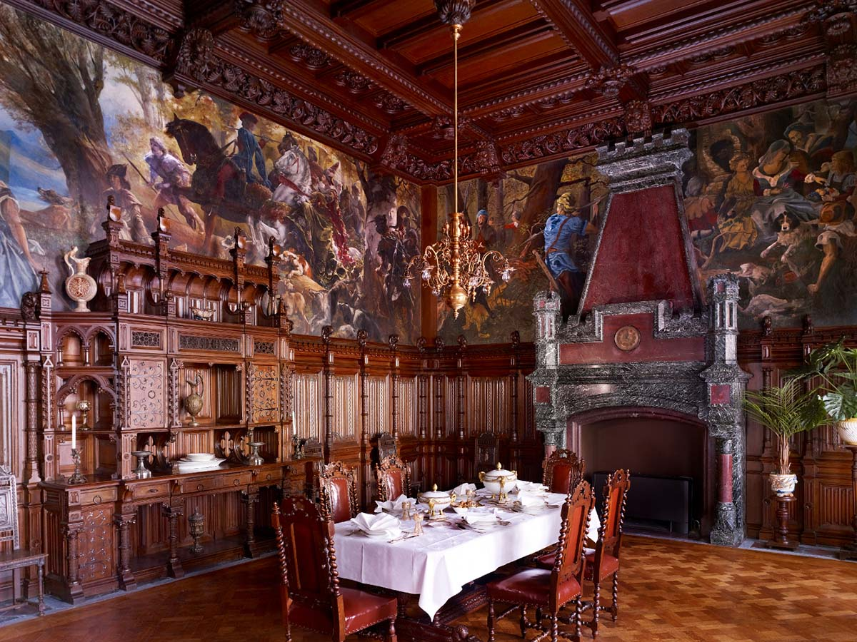 Schloss Drachenburg, интерьер