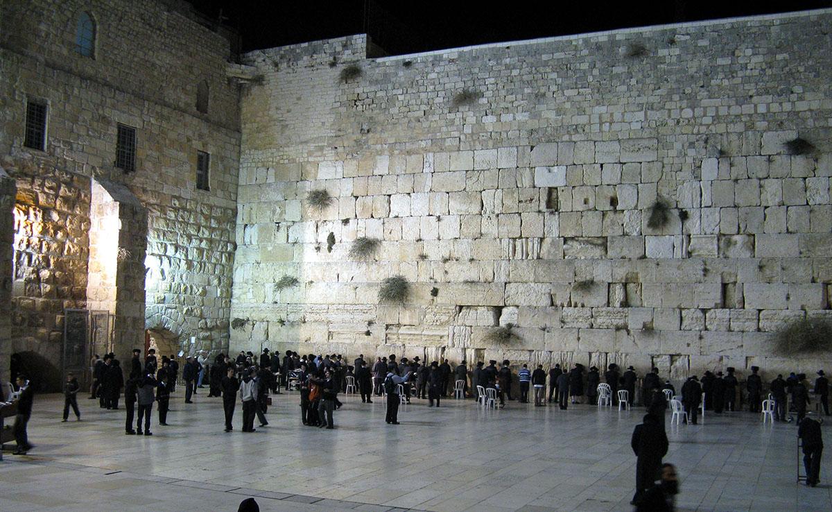 Стена плача на Храмовой горе, Иерусалим, Израиль