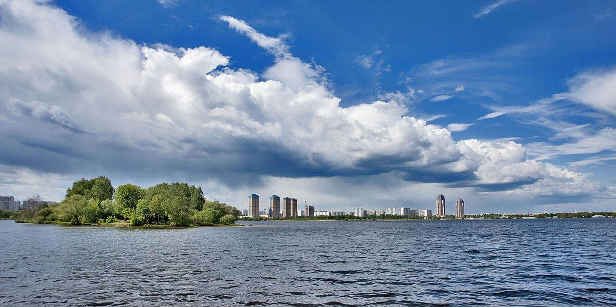 Строгинский залив, Москва, Россия