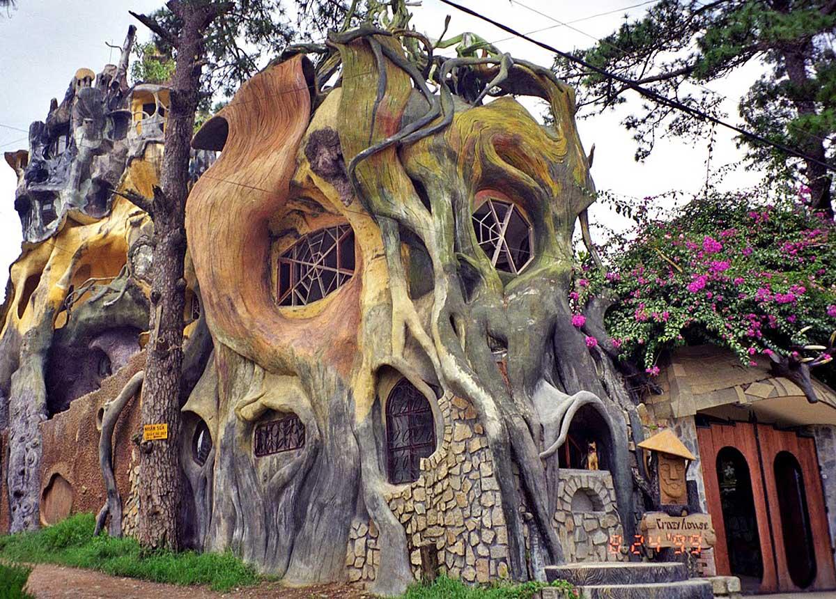 The Hang Nga Tree House Hotel in Dalat, Vietnam