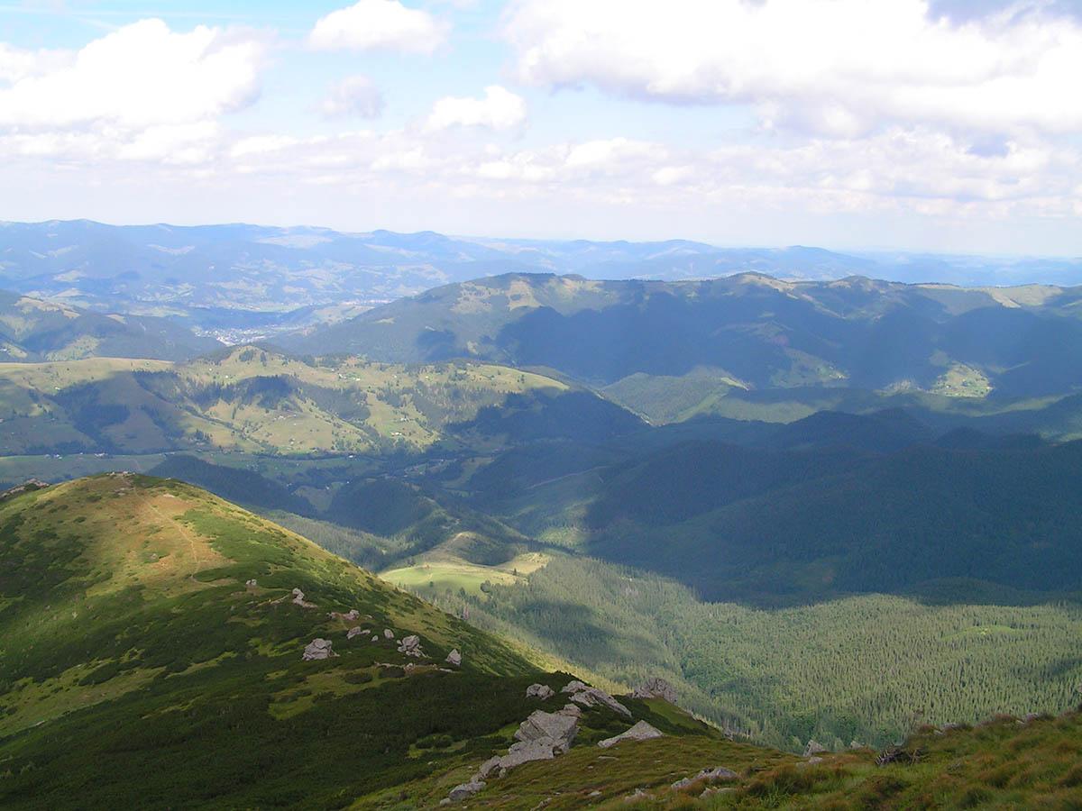гора Поп Иван, вид с обсерватории
