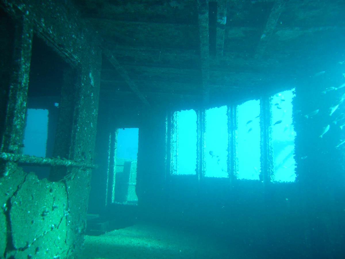 каюта затонувшего корабля