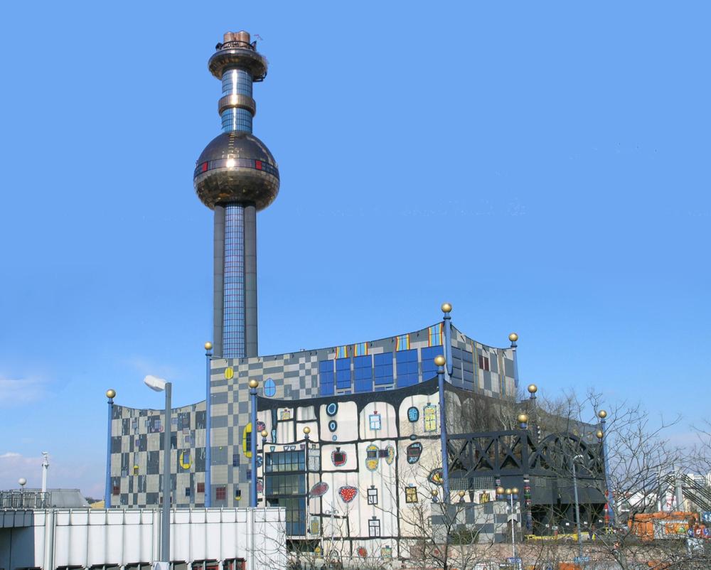 мусоросжигательный завод в Вене, Австрия
