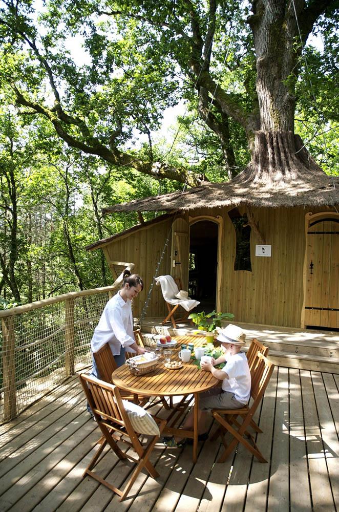 отель Дом на дереве, парк Аликуртс, Франция